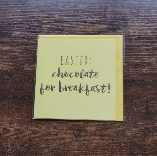 Belly Buttons Designs Easterchocolate for breakfast ! card
