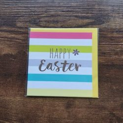 Belly Buttons Designs Happy Easter Card with Stripes