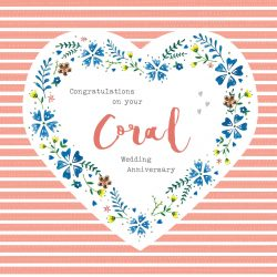Coral Wedding Anniversary