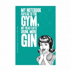 Notes 'N' Quotes Notebook 'Gym, Gin'
