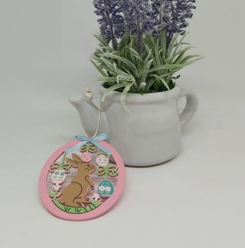 Pink Easter Rabbit Decoration