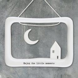 east-of-india-enjoy-the-little-moments-porcelain-open-frame