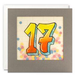 Paper Shakies Age 17 Birthday Card