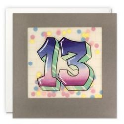 Paper Shakies Age 13 Birthday Card