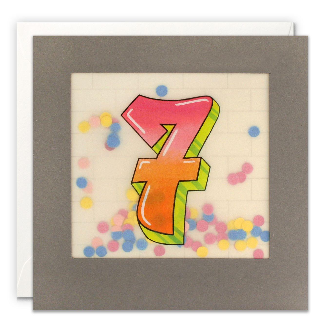 Paper Shakies Age 7 Birthday Card