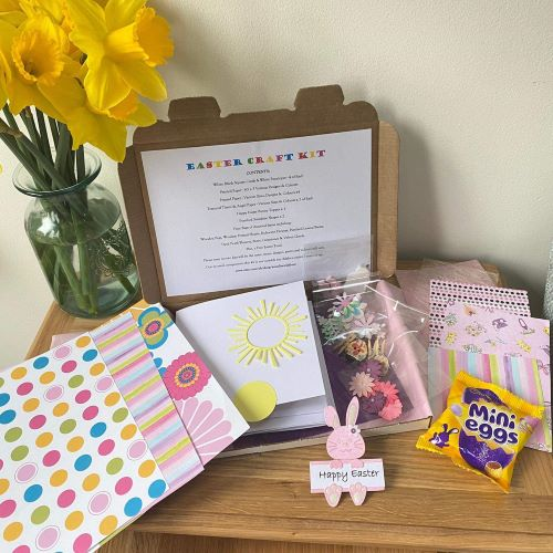 Easter Craft Kit Girl & Personalised Easter Mug