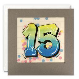 Paper Shakies Age 15 Birthday Card