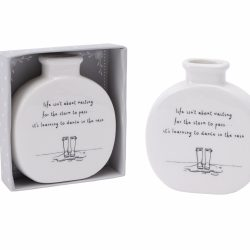 "Send with Love ""Life Isn't About Waiting"" Bud Vase"