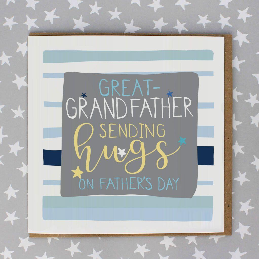 Great Grandfather Sending Hugs Card
