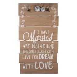 Large Wooden Wedding Sign