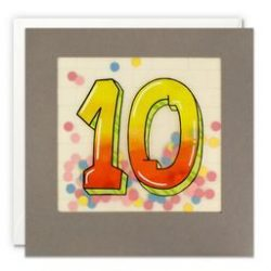Paper Shakies Age 10 Birthday Card