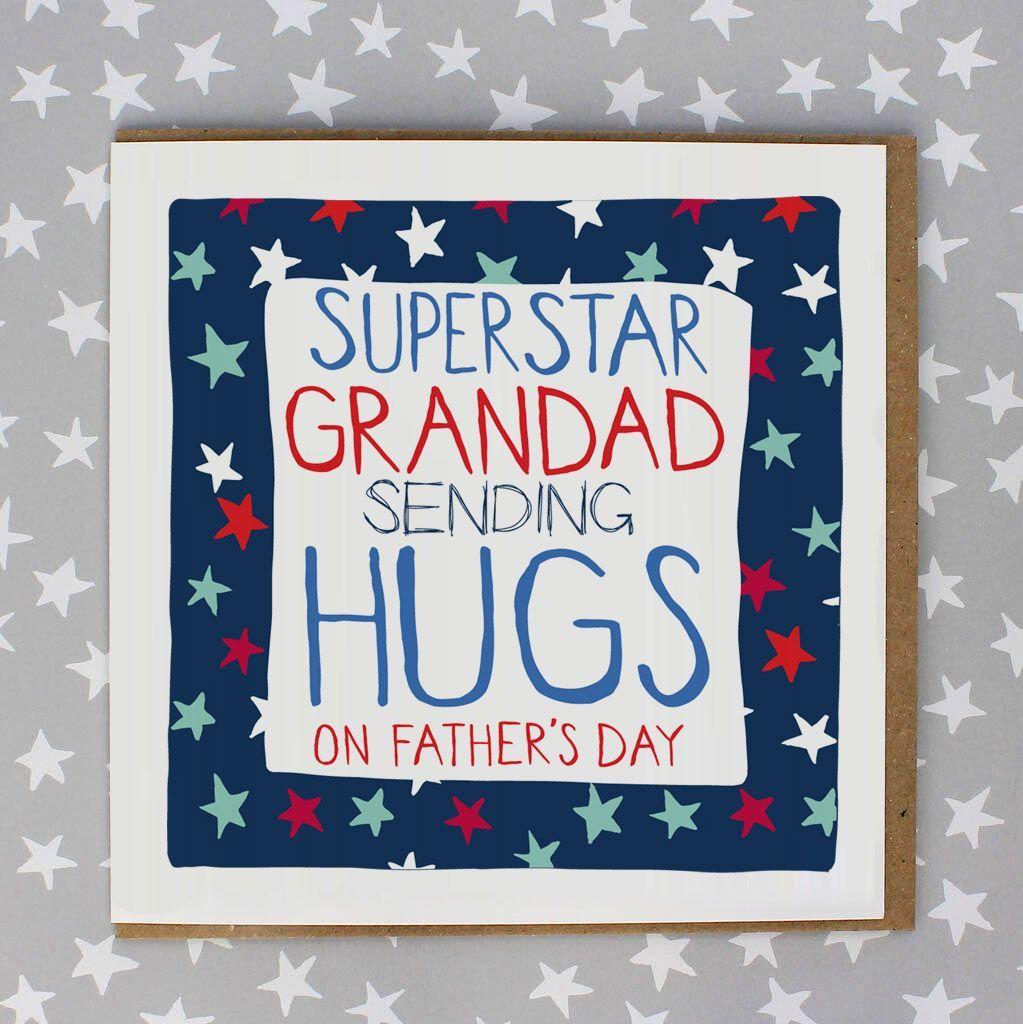 Super Star Grandad Sending Hugs Card