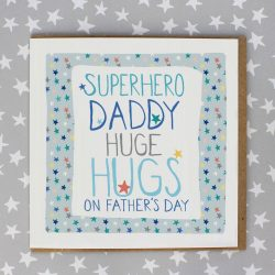 SuperHero Daddy Huge Hugs Card