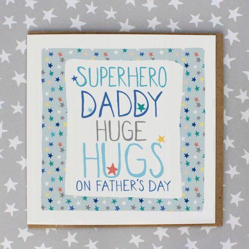 SuperHero Daddy Huge Hugs Card