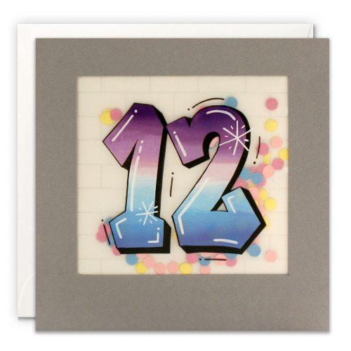 Paper Shakies Age 12 Birthday Card