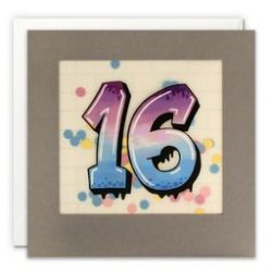 Paper Shakies Age 16 Birthday Card