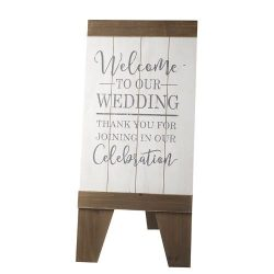Standing Welcome To Our Wedding Board