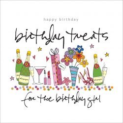Happy Birthday Girl Treats Card
