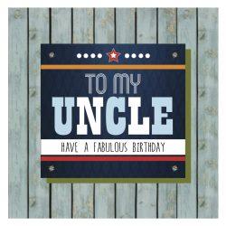 Uncle Happy Birthday Card