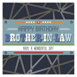 Brother in Law Happy Birthday Card
