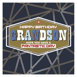 Grandson Happy Birthday Card