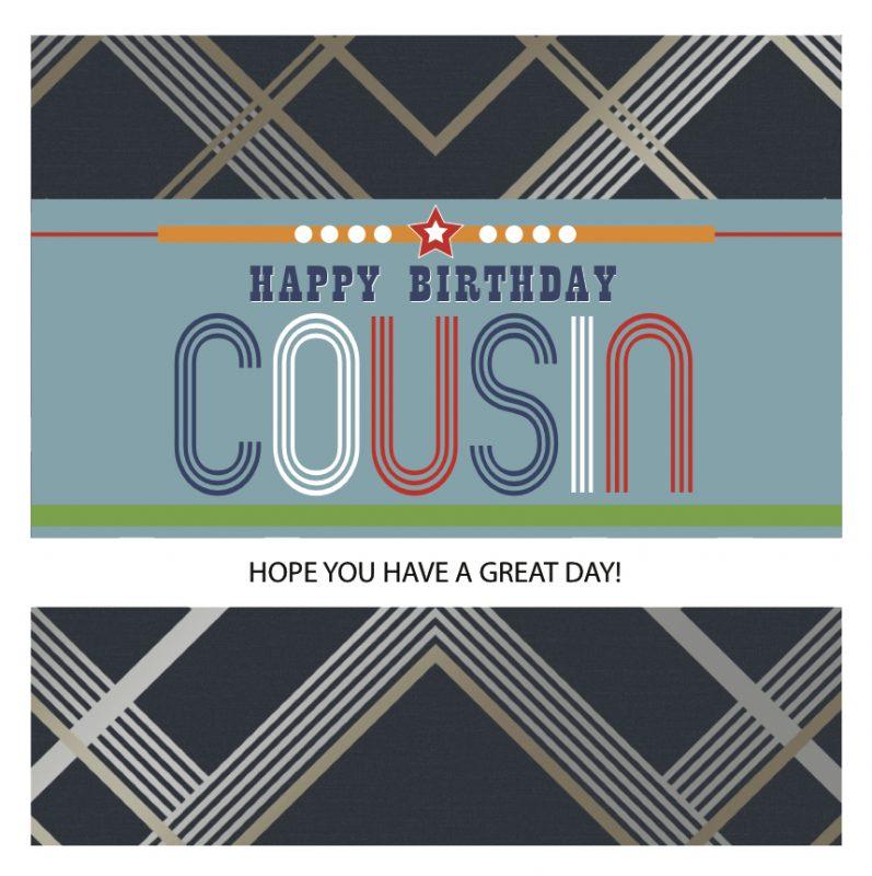 Cousin Happy Birthday Card