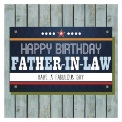 Father In Law Happy Birthday Card