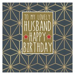 Husband Happy Birthday Card
