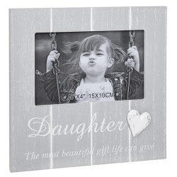 Cool Grey Frame with Heart Daughter