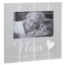 Cool Grey Frame with Heart Nan