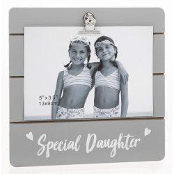 Grey Cutie Clip Photo Frame Special Daughter