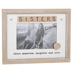 Scrabble Sentiments Frame Sisters