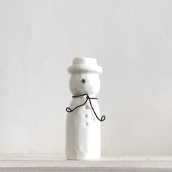 East of India Porcelain Snowman