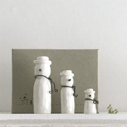 Set of 3-Porcelain Snowmen