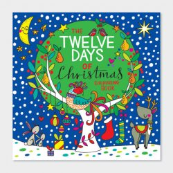 Square Colouring Book – 12 Days of Christmas