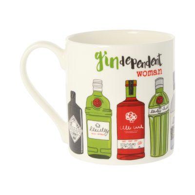 Dandelion Stationery Gin Dependent Woman Mug